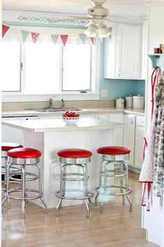 Our friends just redid their kitchen and I'm trying not to covet but it's very very hard!  LOVE those stools!!!