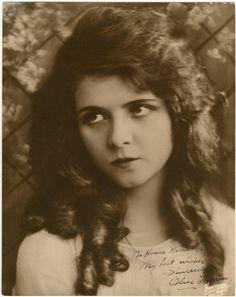Olive Thomas Autograph Portrait