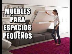 Muebles multifuncionales para espacios reducidos, puedes ver en este video,los mejores sistemas abatibles,mesas de centro convertibles en mesa de comedor,mes...
