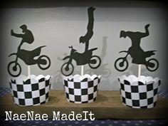 Motorcross Dirtbike Birthday Cupcake Wrappers. $5.50, via Etsy.