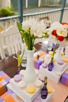 Spa Party Table Decor #spaparty #table