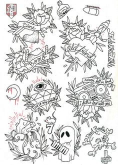 Rancid Tattoo Flash line work ready for this coming friday… 13 Tattoos, Love Tattoos, Body Art Tattoos, Tattos, Dibujos Tattoo, Desenho Tattoo, Tattoo Sketches, Tattoo Drawings, Dessin Old School