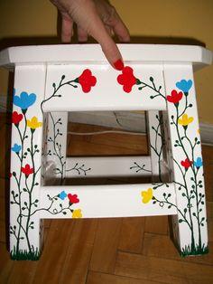 muebles pintados a mano - Bancos - Muebles Artesanales - 73225