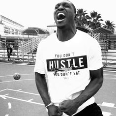 You don't hustle you don't eat.  #playhard #venice #la #basketball #airdogg