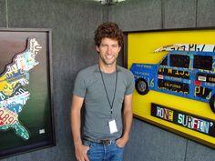 License plate artist Aaron Foster.