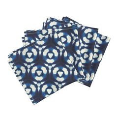 Indigo dyed hexagons Dinner Napkins by lfntextiles   Roostery Home Decor