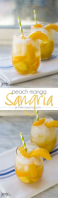 I have been on a huge sangria kick lately. It's like I can't get enough sangria in my life. The thing is, I never really used to be a sangria drinker. Refreshing Drinks, Fun Drinks, Yummy Drinks, Healthy Drinks, Alcoholic Drinks, Yummy Food, Beverages, Mango Sangria, Sangria Drink