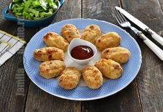Nuggets de pui la cuptor - reteta video Food, Essen, Meals, Yemek, Eten