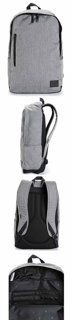 A sleek heather grey backpack with a padded laptop sleeve and plenty of internal organizer pockets | Nixon Smith SE 21L Backpack