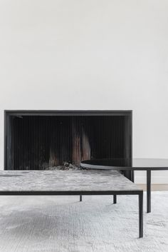 P Roeselare Home Fireplace, Modern Fireplace, Fireplace Design, Fireplaces, Interior Design Images, Interior Design Inspiration, Minimal Home, Living Room Inspiration, Contemporary Interior