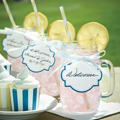 Mason Jar Glass  - I still think these are just so adorable I think these would be cute for mom and dads 80th