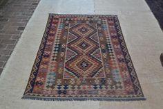 New Nomadic Afghan Oriental Kilim Rug Hand Woven Kelim 6'9x4'9 Wool Carpet #3305 #Unbranded #TraditionalPersianOriental
