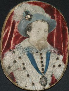 English  Artist: Nicholas Hilliard  Exeter to 1547 - 1619 London    painting:    James I, King of Scotland and England  4th Quarter 16th / 1 Quarter of the 17th century    parchment