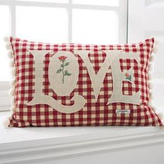 Gingham Любовь Подушка