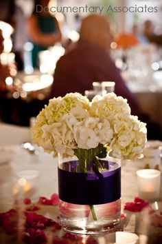 9. Floral Arrangement #modcloth #wedding Hydrangeas are my favorite flower and this arrangement is simple and rustic, yet the classic off-white Hydrangeas keep it romantic and elegant.