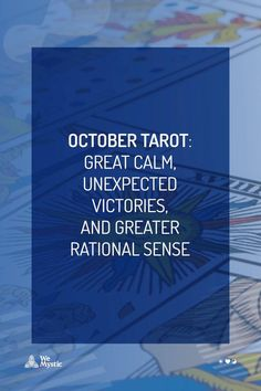 The month of October will be marked by a great calm, unexpected victories, and greater rational sense for the entire zodiac, especially due to the influences of Mercury, Venus, and Mars in each sign's life. Venus E Marte, Astrology And Horoscopes, Tarot Cards, Victorious, October, Knowledge, Calm, Life, Grande