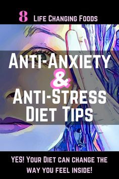 Foods for anxiety. Diet tips for helping you overcome your stress, anxiety, depression, etc. Foods For Anxiety, Deal With Anxiety, Anxiety Help, Stress And Anxiety, Anti Stress, Anxiety Humor, Anxiety Quotes, Optimism, Health
