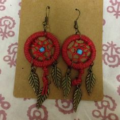 Boho dream catcher earrings hippy As pictured. New with original packaging. Bundle and save! Jewelry Earrings