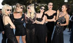 Just call them the ladies in black. Soo Joo Park, Doutzen Kroes, Lara Stone, Barbara Palvin, Karlie Kloss and Irina Shayk assembled together for an epic supermodel photo.