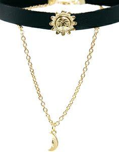 Enlarge ASOS Sun & Moon Choker Necklace