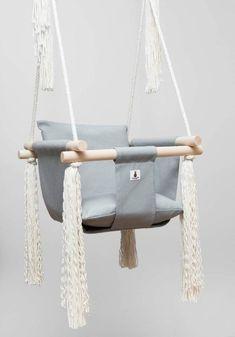 fabric swing porch swing Light Blue baby swing nursery swing Free Shipping indoor swing handmade swing baby swing toddler swing