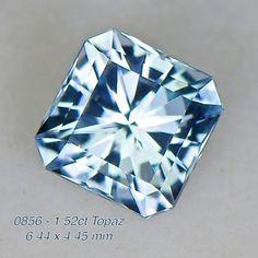 0856 - 1.52ct sky blue Topaz - Brazil calibrated 6.5mm clean, custom cut, irradiated, $35 shipped
