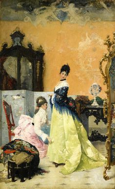 The Yellow Dress by Vincenzo Capobianchi, 1875