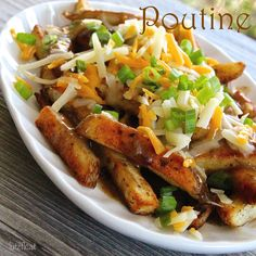 Traditional Canadian Poutine has cheese curds, but this recipe uses shredded cheddar (pantry item for most of us).