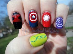 avengers nails; ones I'd actually do, and much more inspired than re-doing characters in mini.