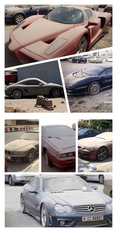 Dubai Abandoned Luxury Cars       Never credit for what you can´t pay; 2009 financial crisis impact at Dubai left over 3,000 vehicles to be abandoned to their luck at the streets.  As silent ghosts yelling a clear mute message.  http://www.dailymail.co.uk/news/article-2194633/Luxury-high-performance-cars-left-abandoned-British-expats-fear-jailed-debts.html