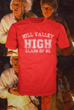 Hill Valley High t-shirt, back to the future  american apparel, free shipping  Also available on crewnecks and hoodies. $19.99, via Etsy.