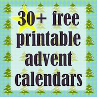 It's not 30, but there are lots of good ones here, like the paper stocking advent calendar of other printables