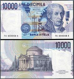 Collezione Personale di Banconote Italiane: 0.2.6. - 10000 LIRE A. VOLTA
