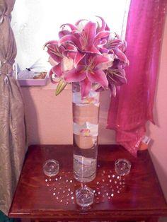 Mi DIY stargazer alto central lirio | Weddingbee Galería de fotos