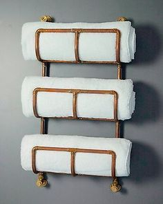 Industrial Copper Towel Rack - Perfect reclaimed style bathroom radiator rail