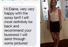Adrianna wanted a natural looking tan not too heavy on the face.