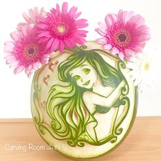 Watermelon Carving Easy, Fruit Art, Foods, Tableware, Food Food, Food Items, Dinnerware, Tablewares, Dishes