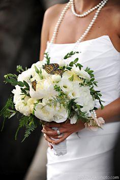Butterflies in bouquet