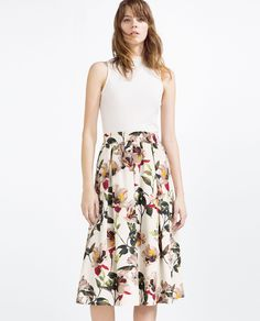 ZARA Woman - floral skirt & shirt on Behance