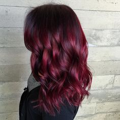 cool 50 Prepossessing Dark Red Hair Ideas - The Graceful Redhead Hairdos