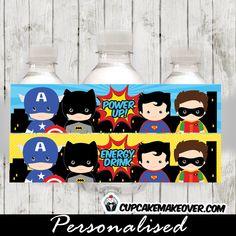 Printable Water Bottle Labels Superhero Avenger Comic Marvel ...