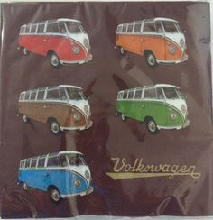 VW Bus Napkin Set Pack of 20-Split Window Busses