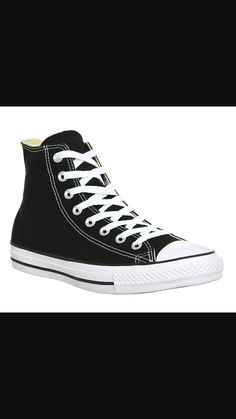 Converse All Star Hi Trainers Black Canvas - Unisex Sports b592131e5