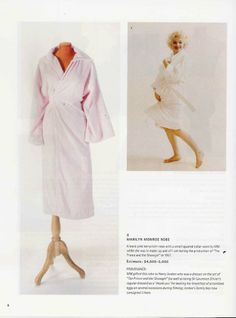 """Basic pink terrycloth robe worn by Marilyn during the filming of """"The Prince and the Showgirl"""", 1957."""