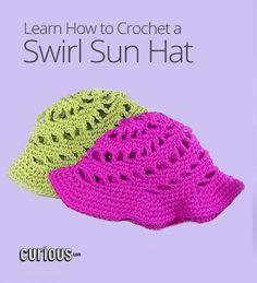 DIY Crochet Swirl Sun Hat