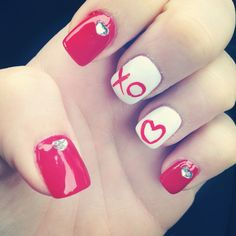 Valentines nails 2014