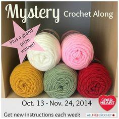 Holiday-themed Mystery Crochet Along from my friends at allfreecrochet.com!