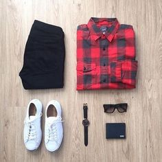 Flannel Friday all day :fire::sunglasses: by: @mrjunho3 Follow for more: @votrends :white_check_mark: #flatlay #flatlays #flatlayapp www.theflatlay.com