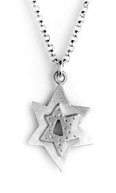 Emily Rosenfelds Sterling Star of David Necklace is made with joy and has a 1/2