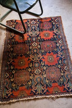 Hip Floral Antique Rug by oldnewhouse on Etsy